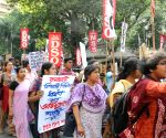 AIDSO protest rally against gang rape of a nun in West Bengal