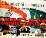 Pak High commissioner ​during an interactive session