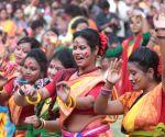 Holi celebrations at Jorasanko Thakur Bari campus of RBU