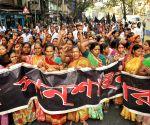 Women hawkers' demonstration