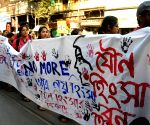 Demonstration against crime against women