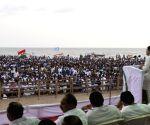 Rahul Gandhi at a Kerala Pradesh Youth Congress rally