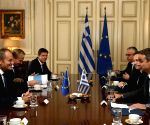GREECE ATHENS PM MITSOTAKIS EU TUSK MEETING