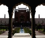 Tourists visit the Badshahi Mosque in eastern Pakistan's Lahore