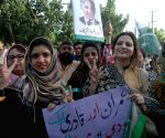 Supporters Nawaz Sharif take part in a demonstration