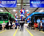 U.S.-LOS ANGELES-LANCASTER-BYD ELECTRIC BUS-OFFLINE CEREMONY