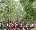 Free Photo:   last rites of Maoist leader RK performed near Telangana border