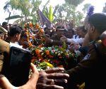 Pulwama militant attack - last rites of martyr Ratan Kumar Thakur