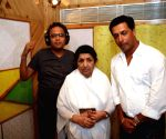 Lata Mangeshkar records a track for Madhur Bhandarkar's film Jail .