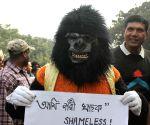 Lawyers protest against WBHRC chairman Asok Kumar Ganguly