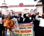 Lawyers' protest against Ravi Shankar Prasad