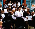 Lawyers demonstrate in support of TSRTC employees