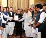 Political parties meet President Mukherjee