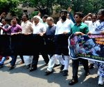 Left, Congress legislators' rally to condemn 22nd May police action