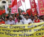Left-Congress demonstrate against post poll violence in West Bengal