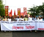 Left protest against the price hike