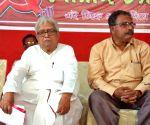 Bardhaman (West Bengal): 2019 Lok Sabha elections - Biman Basu, Gouranga Chatterjee during poll campaign