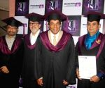 Whistling Woods International - Dharmendra Source : MH_VB Sub source : MH City : Mumbai CaptionWriter: hn Uploader: hn Keyword : Mumbai:actor Dharmendra Category : Cinema Caption: Mumbai: Legendary actor Dharmendra at the convocation ceremony of the Whistling Woods International school in Mumbai on Jan 24, 2019.