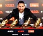 Messi wins sixth Golden Shoe award