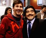 Free Photo: Lionel Messi with Diego Maradona.