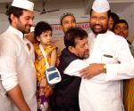 LJP chief Ram Vilas Paswan greeting muslims on the occasion of Eid-ul-Fitr