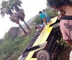 Bus falls into culvert in Andhra Pradesh