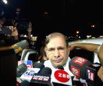 Sharad Yadav talks to press