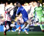 Barclays Premier League match between Chelsea and Sunderland at Stamford Stadium in London