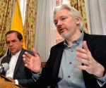 WikiLeaks founder Julian Assange attends a press conference