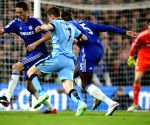 UK-LONDON-SOCCER-BARCLAYS PREMIER LEAGUE-CHELSEA VS MANCHESTER CITY