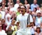 2014 Wimbledon Championships in Wimbledon - Roger Federer
