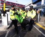 BRITAIN LONDON EXTINCTION REBELLION PROTEST CITY AIRPORT