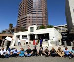 U.S. LOS ANGELES IMMIGRATION POLICY PROTESTERS ARREST