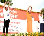 Yogi Adityanath leads yoga day event in Lucknow