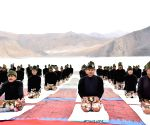 Indian, Chinese army soldiers perform Yoga on LAC in eastern Ladakh