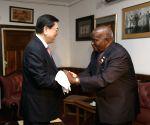 ZAMBIA LUSAKA CHINA ZHANG DEJIANG VISIT