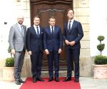 LUXEMBOURG BETTEL MICHEL RUTTE MACRON MEETING