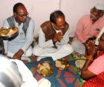 Madhya Pradesh Chief Minister Shivraj Singh Chouhan haves lunch in a Dalit household