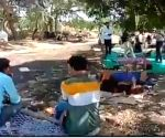 Free Photo:  Madhya Pradesh shocker: Patients in fields, IV bottles hang from trees