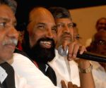 Manda Krishna Madiga, Uttam Kumar Reddy, L. Ramana at a press conference