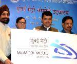 Devendra Fadnavis unveils Mumbai Metro logo