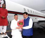 Maharashtra Governor designate welcomed by CM at Mumbai Airport