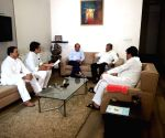 Maharashtra Minister Chandrakant Patil meets Ashok Chavan