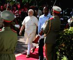 Mahe (Seychelles): Ceremonial Reception for Modi in Seychelles