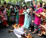 Mahila Congress demonstration against Arun Jaitley