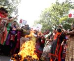 Congress demonstration against hike in LPG cylinder prices