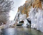 TURKEY MALATYA FROZEN WATERFALL