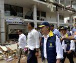 ECUADOR MANABI COLOMBIA PRESIDENT EARTHQUAKE RELIEF SUPPLIES