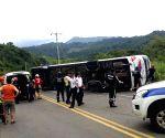 ECUADOR MANABI BUS ACCIDENT