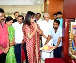 Sumalatha Ambareesh visits BJP office